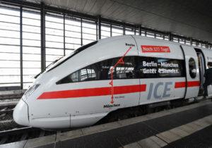 В Германии появился скоростной поезд Берлин-Мюнхен. Время в пути сократилось , теперь оно составляет - 3 часа 55 минут.