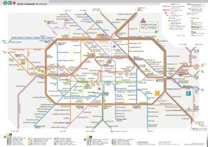 Карта метро Берлина.