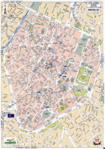 Подробная карта автодорог в Брюсселе.