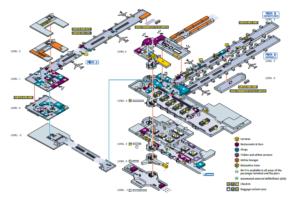 Схема аэропорта Zaventem.