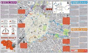Туристическая карта Брюсселя.