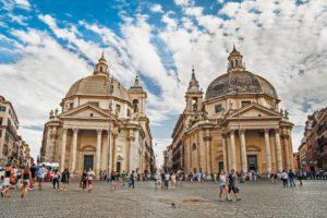 Пиаццо-дель-Пополо в Риме
