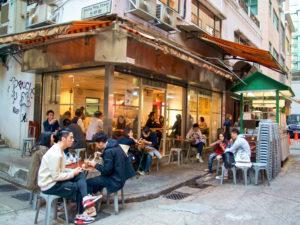 Гонконгское уличное кафе