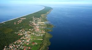Польский курорт Крыница-Морска с высоты птичьего полета