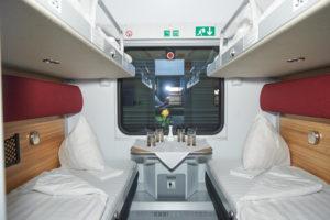 Купе поезда Москва-Прага
