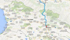 в Грузию через Владикавказ
