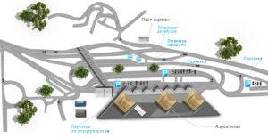 Схема аэропорта Адлер - как добраться до Сочи