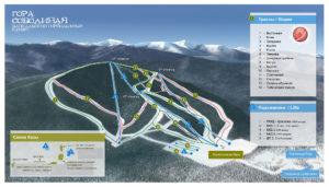 Схема байкальского горнолыжного курорта Гора Соболиная. Кликните для увеличения.