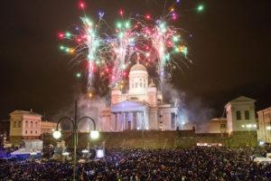 Празднование Нового года в Хельсинки, Финляндия