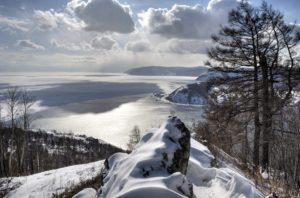 """Смотровая площадка """"Камень Черского"""" зимой"""