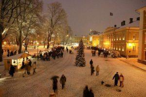 Финский город Турку в канун Рождества и Нового года