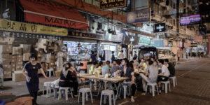 Уличное кафе в Китае