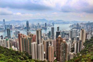 Вид с вершины Пика Виктория в Гонконге