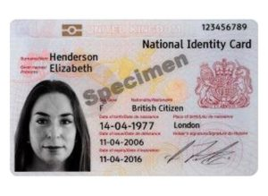 Так выглядит карта жителя Великобритании (National Identity Card)