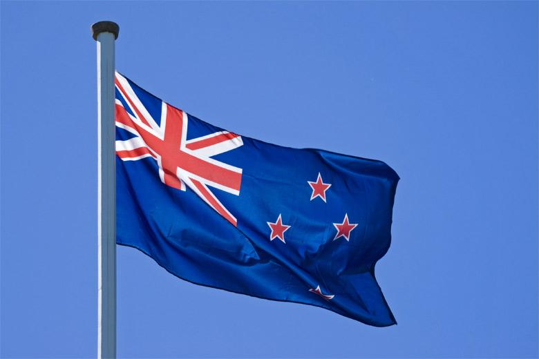 вот уже фото флага новой зеландии утро