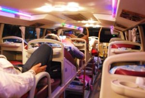 Sleeper bus.