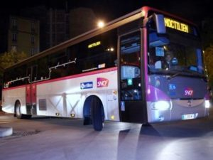 Автобус Noctilien night bus в Париже