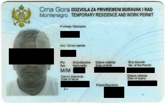 Рабочая виза в Черногорию (ВНЖ / боравак)